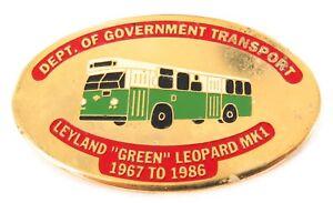 RARE-1980s-NSW-DEPT-TRANSPORT-LEYLAND-GREEN-LEOPARD-1967-1986-BUS-LARGE-BADGE