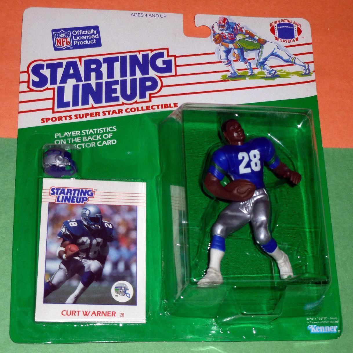 1988 CURT WARNER Seattle Seahawks EX NM  FREE s h  Rookie Starting Lineup rare
