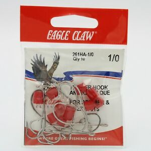 10 Pack Eagle Claw 261HA OShaughnessy Trailer Fishing Hooks Bronze Pick A Sz