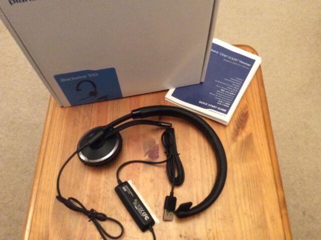 Plantronics Blackwire C510 Black Headband Headsets, Black & BNIB