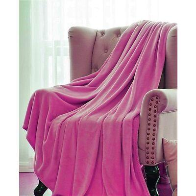1 Solid Soft Warm Versatile Small Throw Lightweight Travel Micro Plush Blanket