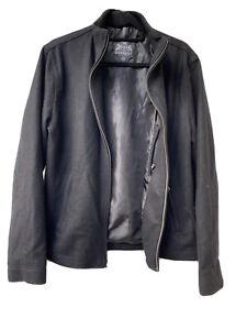 EXPRESS-Men-039-s-M-Wool-Blend-Black-Coat-Jacket