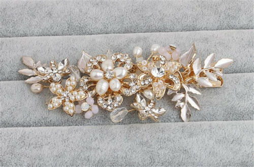 Diamante Bridal Hair Accessories Crystal Hair Pins Pearls Wedding Gown Headdress