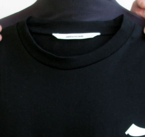 M 52 Neuf Et Taille amp; Voltaire Haut Zadig Courtes shirt Noir Blanc T 50 Xxw7n4O