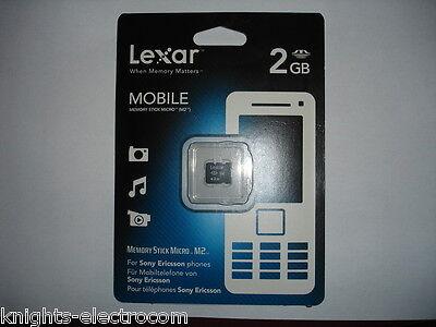 Realistisch Lexar 2gb Memory Stick Micro M2 For Sony Ericsson Phones Cameras Psp Schmerzen Haben