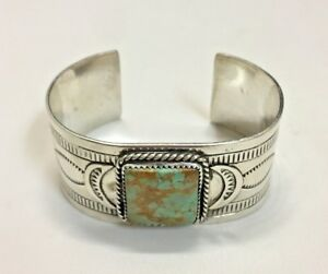 Sterling-Silver-Bangle-with-Square-Turquoise-Stone