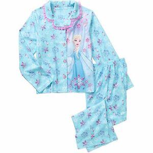 Disney-Frozen-Elsa-2-Piece-Sleepwear-Kids-Girls-Sleep-Nightwear-Pajama-10-12