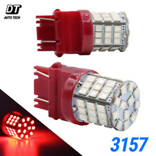 Syneticusa 3157 LED Red Brake Light Bulbs Stop Rear Tail Parking High Power 50w