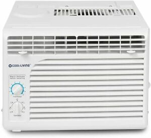Cool-Living 5,000 BTU 150 Sq. Ft. Window Air Conditioner with Manual Controls
