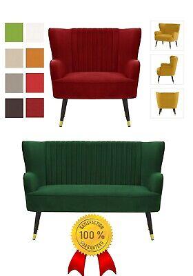Sitzmöbel aus massivem Buchenholz Zweisitzer Creme-Rot