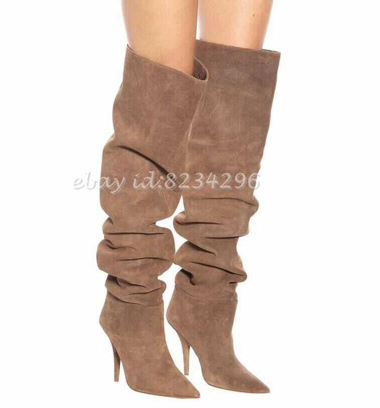 Europe New Top Models currently Womens Sexy Boots Stiletto Pumps Pointed