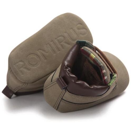 Newborn Baby Boys Girls Soft Sole Crib Shoes Warm Boots Anti-slip Sneakers 2019