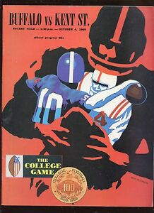 October 4 1969 NCAA Football Program Buffalo vs Kent State EXMT