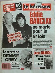 Intelligente Marius L'épatant Le Hérisson N°2197 - 1988 - Eddie Barclay - Denise Gray - Stars Jouir D'Une Haute RéPutation Sur Le Marché International