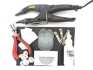 FUSION-Connecteur-fer-Kit-pre-colle-Bonds-Extensions-de-cheveux-amp-INSTRUCTIONS