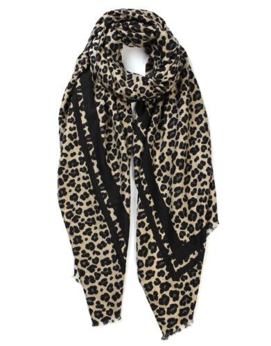 Ladies Leopard Print Scarf Shawl Stripe Winter Warm Fashion Pashmina 175 X 90 cm