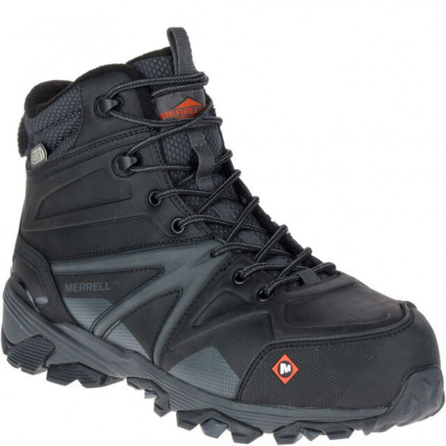 ea8e78aa19 Merrell Men's J15727 Trailwork Mid Composite Toe Waterproof Safety Work  Boots