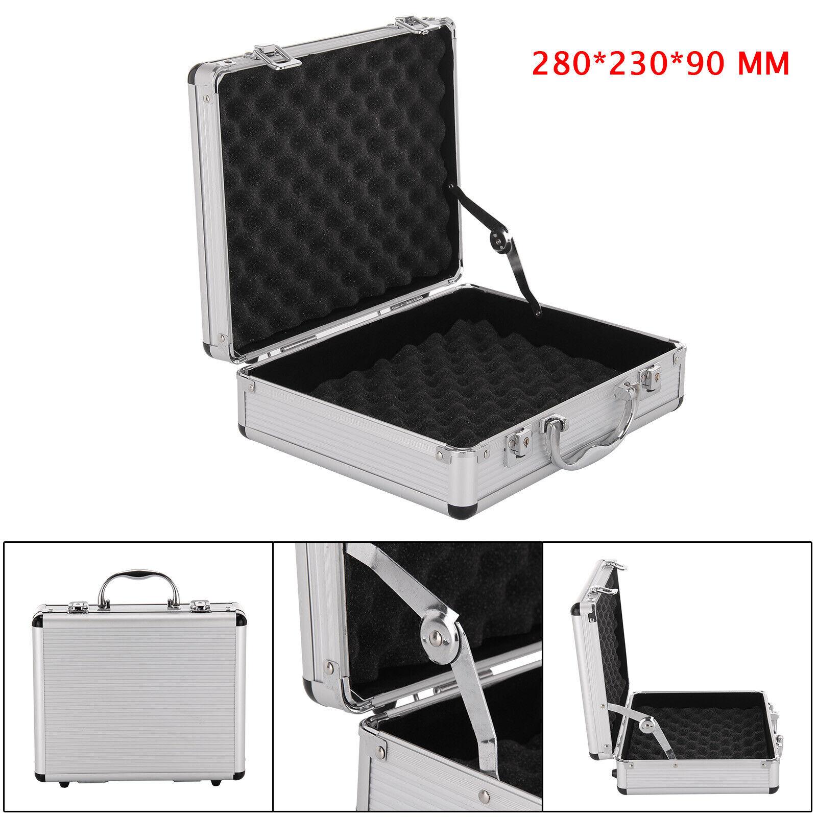 Aluminium Pistol Gun CasesStorage Lockable Flight Case Foam Tool Boxs Secured UK