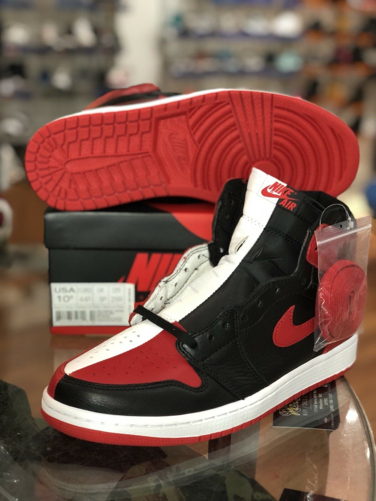 Ds Nike Air Jordan 1 Retro OG Homage To Home SIZE 10.5 Bred Chicago 861428-061 Brand discount