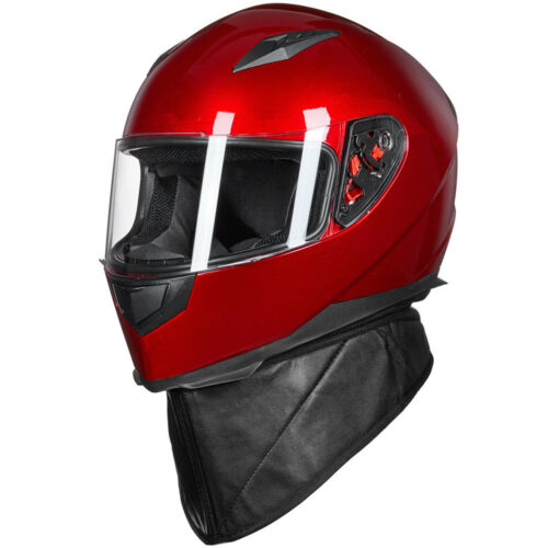 ILM Full Face Motorcycle Helmet with 2 Visors+Neck Scarf DOT Approved S M L XL