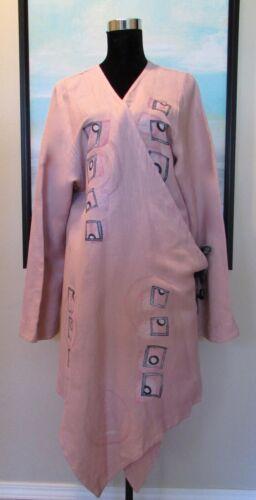 Blue Fish Barclay Pink Cantiva Hemp Wrap Kimono St