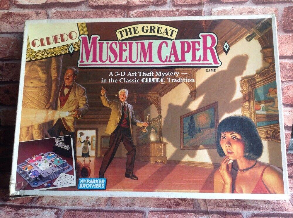 Raro Cluedo el gran museo alcaparras Completo Parker Brojohers Vintage Juego De Mesa