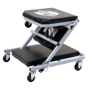 Image is loading Z-Creeper-Seat-Rolling-Mechanics-Chair-Garage-Stool-  sc 1 st  eBay & Z Creeper Seat Rolling Mechanics Chair Garage Stool Shop Tool Tray ...