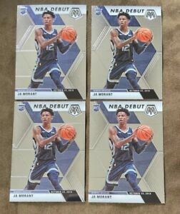 Lot-4-Ja-Morant-2019-20-Mosaic-NBA-Debut-ROOKIE-RC-274-Grizzlies-ROY
