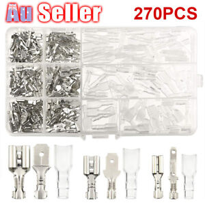 Crimp-AU-Electrical-Insulated-Assorted-270Pcs-Spade-Set-Terminals-Wire-Connector