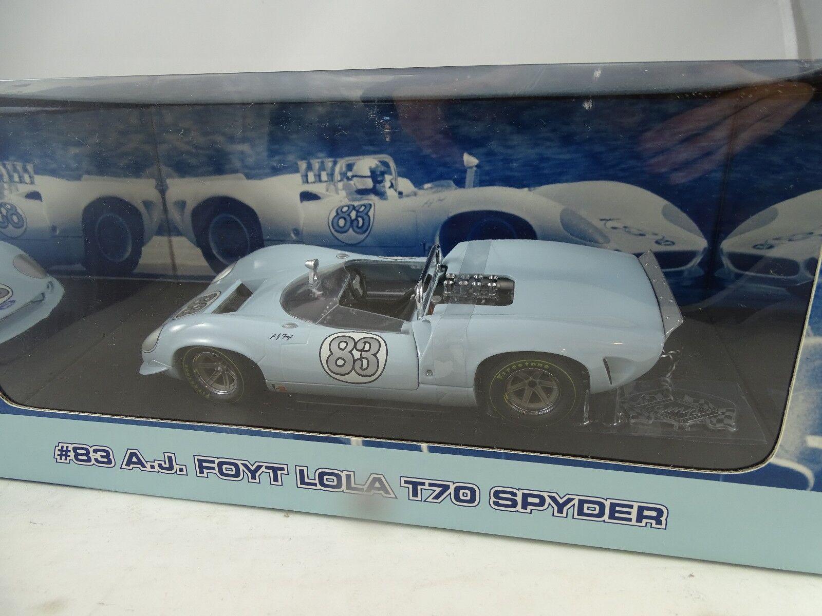 1 18 Gmp  12009 A. J. Foyt Lola T70 Spyder  83 Limitado Edición Rareza