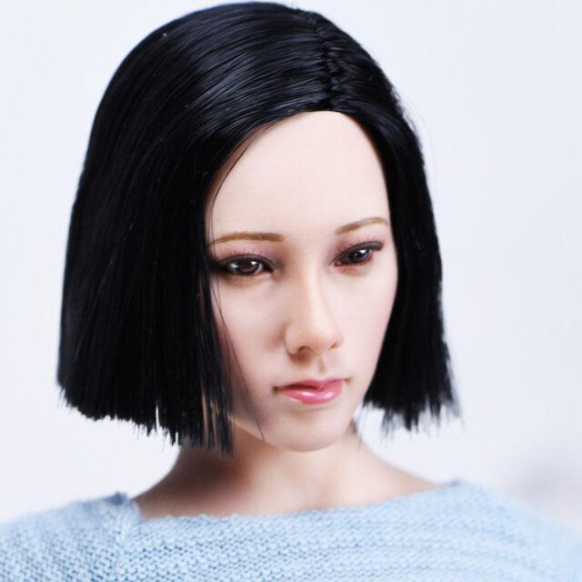 "Female Head Model Head Sculpt Body Parts for 12/"" TBLeague Phicen NB-002"