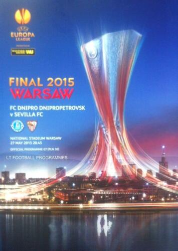 2015 UEFA EUROPA LEAGUE FINAL DNIPRO v SEVILLA OFFICIAL MATCH PROGRAMME