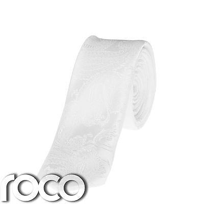 Bianco Di Ragazzi Fascette,bianco,motivo Paisley,formali Da Ragazzo Cravatte
