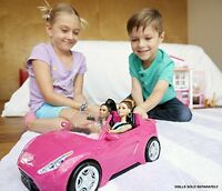 Barbie Glam Pink Convertible Doll Car Vehicle Accessories Mattel Seats Girls Toy
