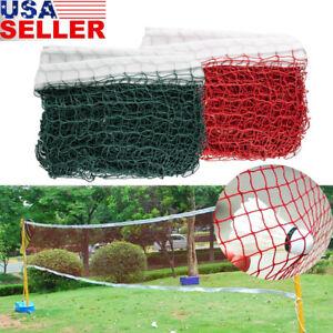 Height-Badminton-Volleyball-Tennis-Beach-Net-Set-Indoor-Outdoor-Games-Green-Red