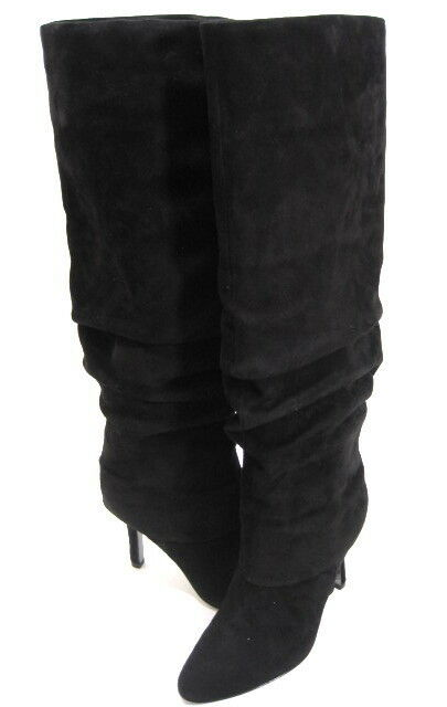 connotazione di lusso low-key ISOLA donna MOCHA HIGH-HEEL KNEE-HIGH FASHION SLOUCH SLOUCH SLOUCH avvio nero SUEDE SZ 7.5 M  wholesape economico