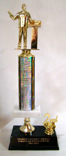 Speech and Debate Team Toastmasters Trophy Free Engraving 16 inch tall trophy