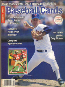 Details About Nolan Ryan On Cover Of Baseball Cards August 1990 Bonus 9 Individual Cards