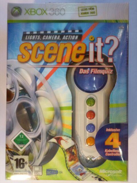 Xbox 360 Spiel - Scene it? Das Filmquiz - inkl. 4 kabelloser Controller