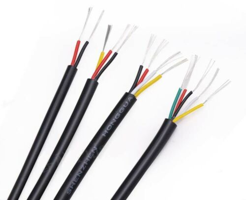 2//3//4//5//6//8//10-Cores UL2464 PVC Wire Power Signal Cable 20//22//24//26 AWG Black