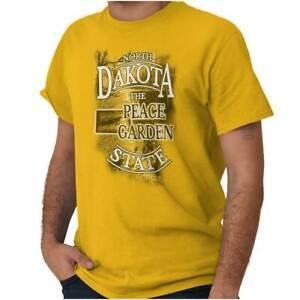 North-Dakota-Peace-Garden-State-Map-Tourist-Short-Sleeve-T-Shirt-Tees-Tshirts