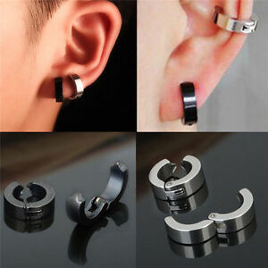 Image Is Loading 1 Pair Men Stainless Steel Non Piercing Clip