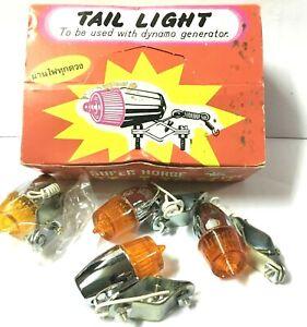 4Pcs-Vintage-Tail-Light-TL-No-555-used-with-Dynamo-generator-6V-Super-Horse