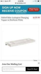 Oxford-Baby-Lexington-Changing-Topper-Heirloom-White-RARE-VINTAGE-SHIPS-N-24-HRS