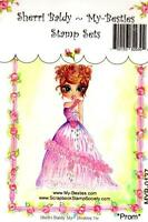 My-besties Clear Cling Rubber Stamp Prom Girl Free Usa Ship