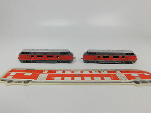 AQ933-0-5-2x-Schiebetrix-Minitrix-Spur-N-7821-821-Diesellok-V200-V-200-035