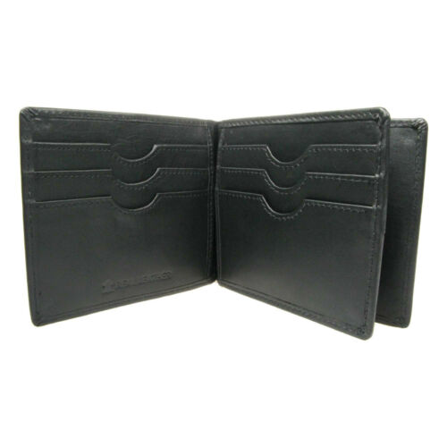Genuine Leather 6 Credit Card Slot and Slim Money Clip Leather Wallet