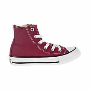 Converse-Chuck-Taylor-All-Star-Hi-Little-Kids-039-Shoes-Maroon-348437F-Youth