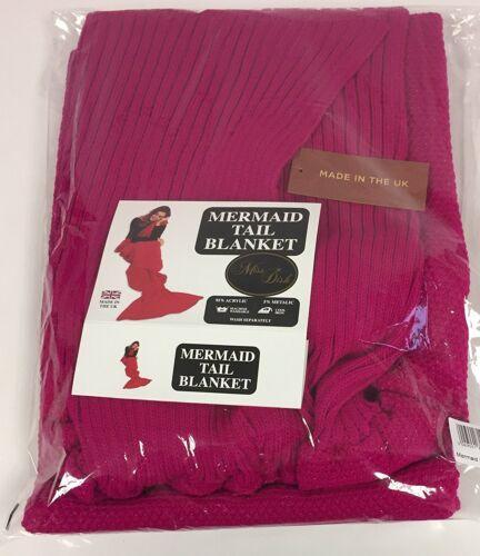 Made In The UK Fusia Pink Luxury Mermaid Blanket Throw