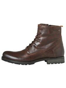 Jack-amp-Jones-CABALLERO-zapatos-botas-jfwworca-genuina-cuero-ata-40-hasta-45